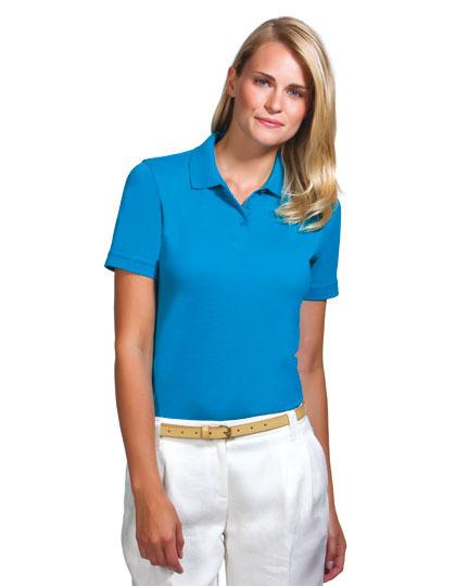 Poloshirt für Damen individuell und kundenspezifisch mit Werbeanbringnung als Werbegeschenk